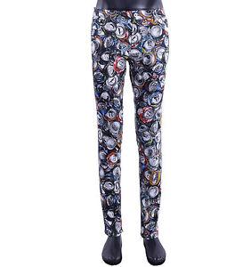 05411 Jeans Skinny Grau Fit Slim Mit Hose Couture Riciclaggio Moschino Stil Stampa qBPRFSxn6