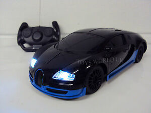 BUGATTI VEYRON Radio Remote Control Car LED Lights 1/18 New | eBay on
