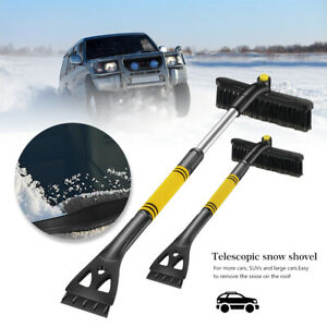 New Extendable Snow Brush with Ice Scraper Shovel For Car Windshield Clean Tool