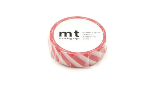 Festive Craft Tape MT Stripe Red Washi Masking Tape Candy Cane Colours