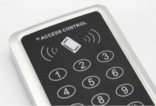 New 125KHz RFID Card Door Access Control Keypad Password Keypad+10 RFID Keyfobs