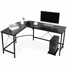 Computer Desk Large 66 Modern L Shaped Workstation Pc Stand With Round Corner