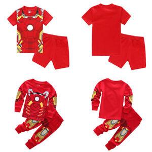 Boy/'s Youth Iron Man 2 Piece Pajama Set