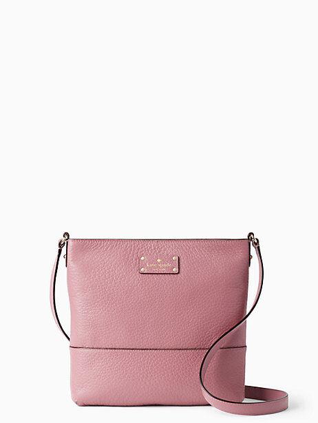 Kate Spade Rick Rum Raisin Pink Leather Bay Street Cora Shoulder Bag Ebay