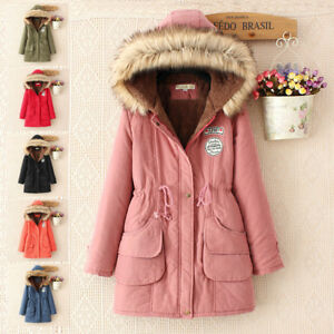 Uk Seller Hot Ladies Womens Jacket Hooded Winter Top Parker Parka