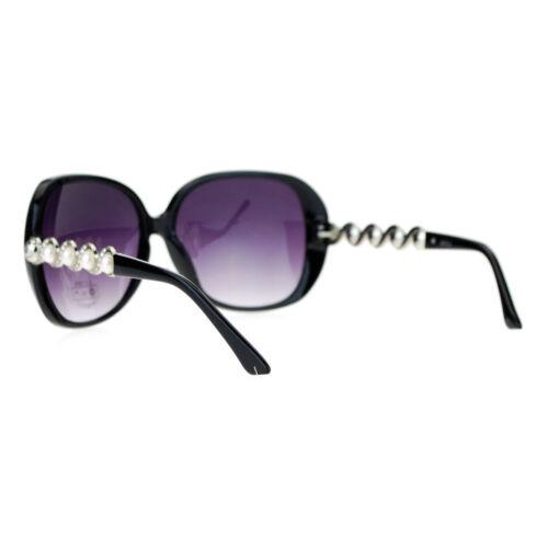 Vintage Pearl Decor Womens Fashion Sunglasses Oversized Square Frame