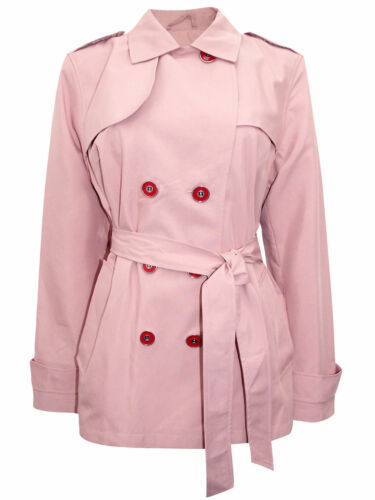 Size 8 10 12 16 18 M/&S LADIES WOMENS Belted Trench Coat Jacket