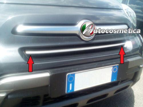 Cornice Striscia Personalizzata Profilo Acciaio Satinata Paraurto FIAT 500X