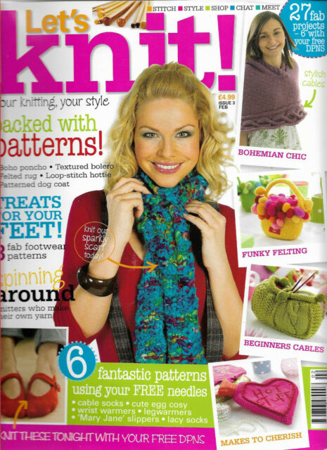 Let's knit! magazine, Issue 3, February 2008.   No free gifts included