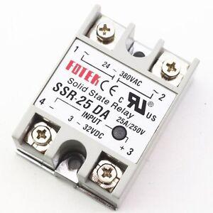 1Pcs-Solid-State-Relay-Module-3-32V-DC-Input-24-380VAC-SSR-25DA-25A