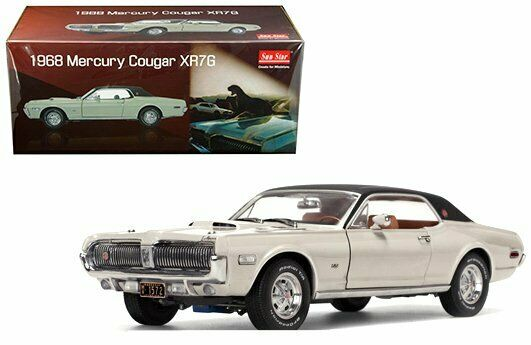 Sun Star 1 18 1968 Mercury Cougar XR7G Hard Top Fawn biancao Diecast Car SS1572