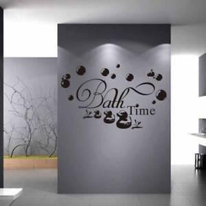 Bath Time Wall Art Removable Vinyl