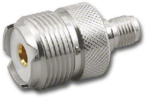 Reverse SMA to SO239 Adapter - female SMA to female PL259