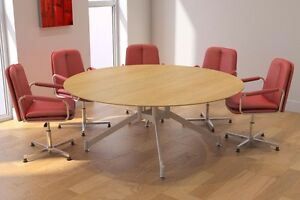 Ordinaire Image Is Loading Sven 1500 Diam Seat 6 Round Boardroom Table