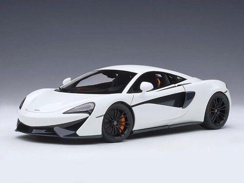 2016 McLaren 570S biancao Con nero Ruedas compuesto 1 18 de Autoart 76043