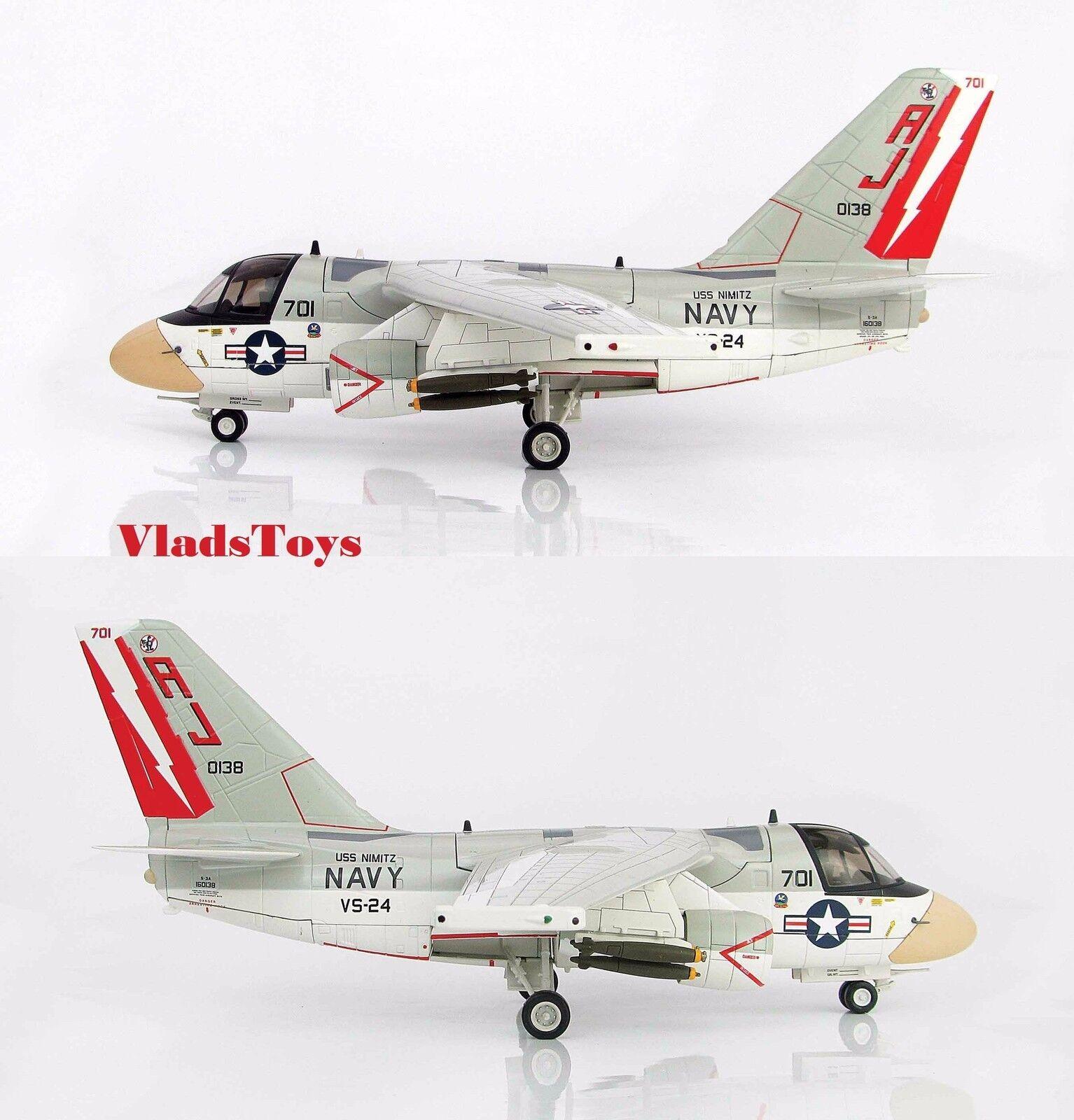 Hobby Master 1/72 Lockheed S-3A Viking Us Navy Uss Nimitz HA4906 VS-24 Scouts AJ701