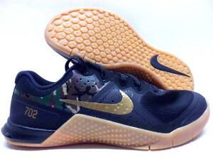 finest selection 5f00d f444a Image is loading NIKE-METCON-2-ID-BLACK-METALLIC-GOLD-ARMY-