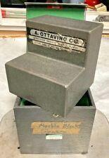 A Ottavino Granite 6x6x63 Surface Plate Square Chipped Corners Machinist Insp