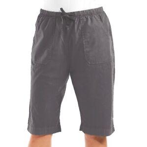 32e423381c4 FRESH PRODUCE XXL Shale Gray PARK AVE Cotton Pedal Pushers Shorts ...