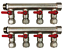"""Brass Pex Manifold for 1//2/"""" Pex red handle 3//4/"""" 8-Loops Ball Valve"""