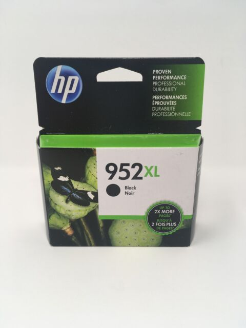 NEW Genuine HP 952XL Black Ink Cartridge, High Yield F6U19AN OEM Exp. 2019-2020