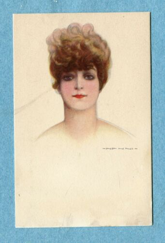 A1684 Postcard Nanni Portrait of Brown Haired Woman