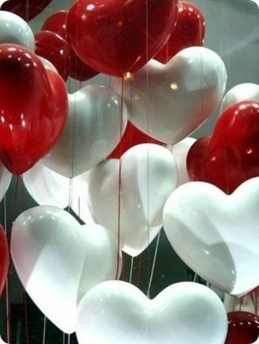 """10/"""" Mix colour heart balloons engagement wedding Valentine/'s Day HEART SHAPE new"""