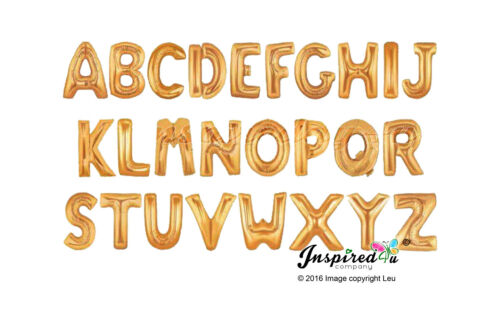 """Gold /& Silver 16/"""" Alphabet A-Z Letter Number Foil Balloons Name Party Wedding"""
