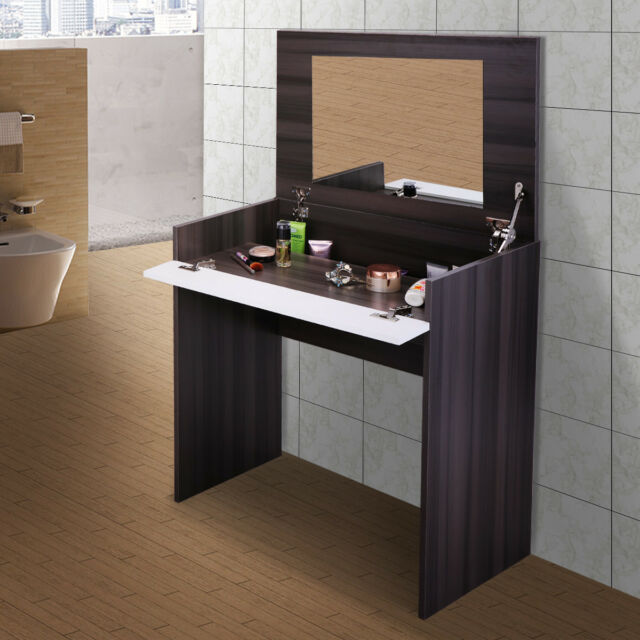 Modern Elegant Bedroom Makeup Vanity Table Wflip Up Mirror Chic