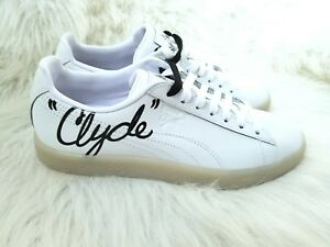 7a31df129898 New Youth Puma Clyde Signature White Black Casual Sneaker 6.5C  80 ...