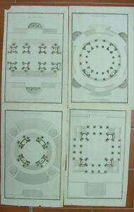 de-Neufforge-LOT-4-gravures-FEU-d-039-ARTIFICE-originales-XVIII-s