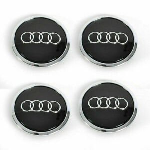 Enjoliveur Centre de roue Audi  69mm 4 Cache Jante moyeux Ecrous