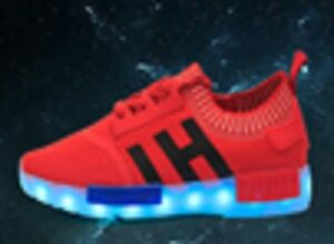 Details About Hot Unisex 7 Color Led Light Lace Up Sneaker Shoes Usb Baby Shoes