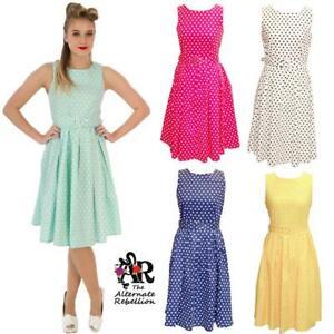 Polka-Dot-Swing-Dress-by-Dolly-amp-Dotty-Annie-anos-50-Vintage-Rockabilly-Retro