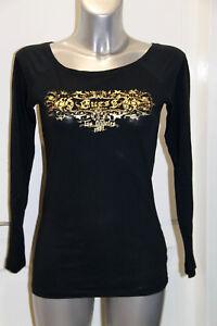 joli haut sweat noir et doré et perles GUESS JEANS taille S ... 1476520e336