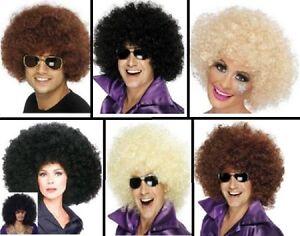 Unisex-70-039-s-Afro-Wigs-Hen-Stag-Party-Festival-Funky-Wig-Fancy-Dress-Club-Wear