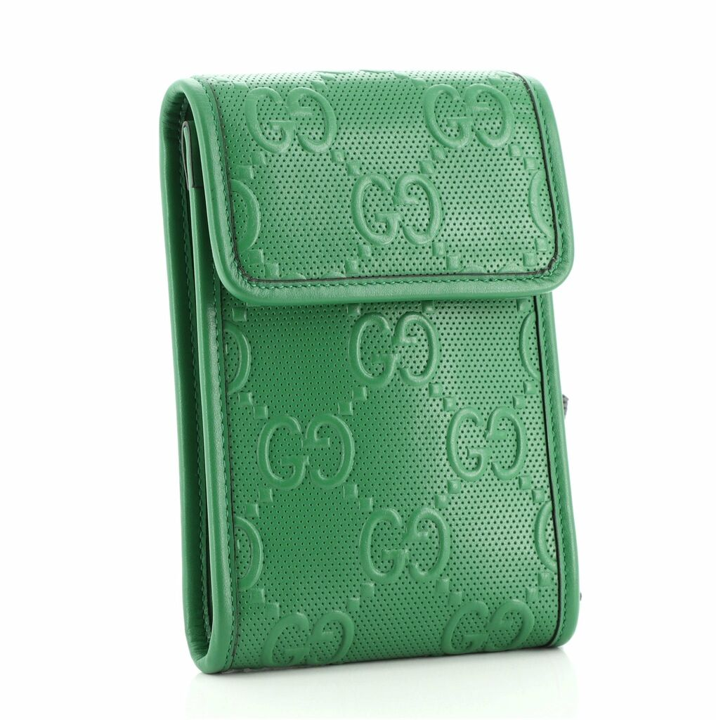 Gucci Flap Crossbody Bag GG Embossed Perforated Leather Mini    eBay