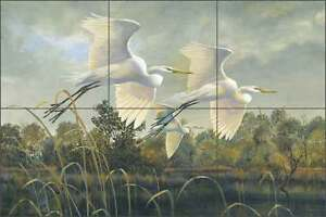 Ceramic-Tile-Mural-Backsplash-Binks-Egret-Wildlife-Lodge-Art-Birds-REB023