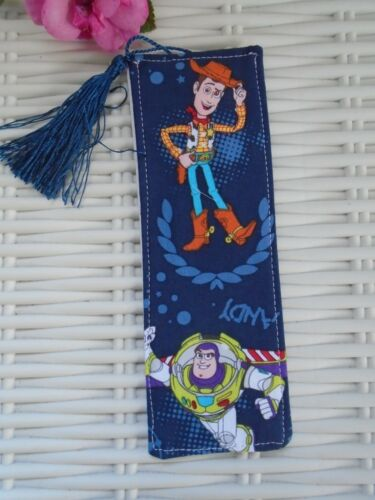 SUPERHERO TOY STORY FABRIC BOOK MARK BOOKMARKS ANDY BUZZ READING GIFT TOYS NEW