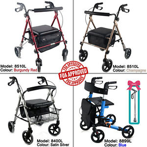 Aluminum-Foldable-Rollator-Walking-Frame-Outdoor-Walker-Aids-Mobility