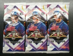 2020-Topps-Fire-Baseball-Cello-Fat-Pack-12-Card-Packs-3x-Pack-Lot