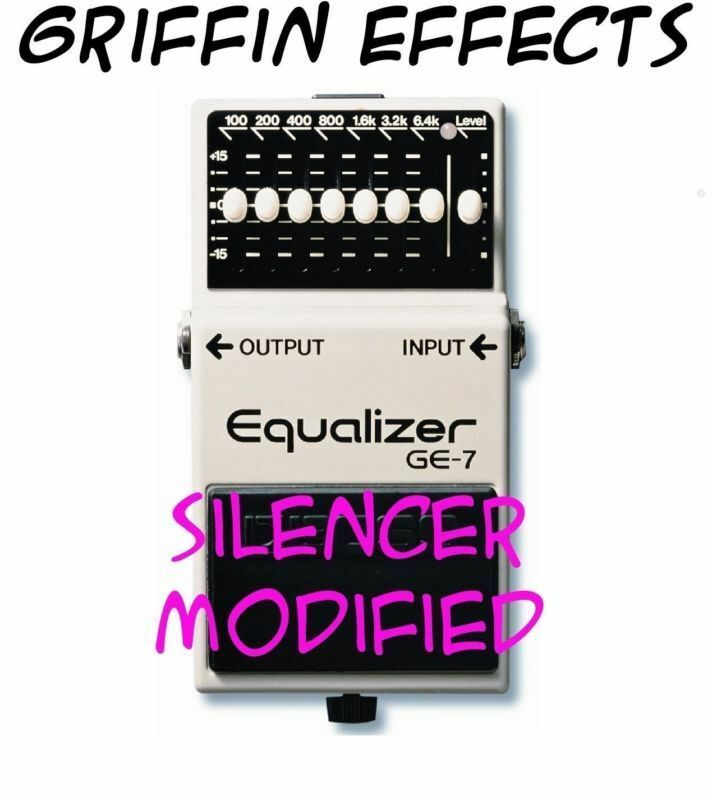 Boss GE-7 Equalizer - Griffin Effects Modified - Silencer Modified - Brand New