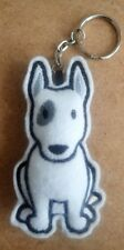 English bull terrier keyring - handmade