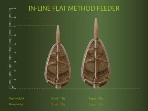 All Sizes Drennan In-Line Flat Carp Method Feeders