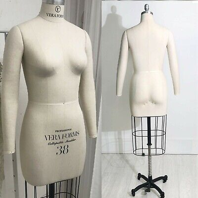 Half Body Dress Form W// Collapsible Shoulders Pinnable Mannequin