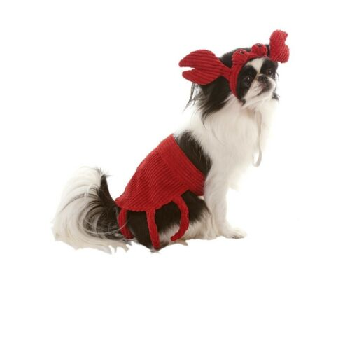 HALLOWEEN Costume Crab for Dogs 2 pc set ML XS