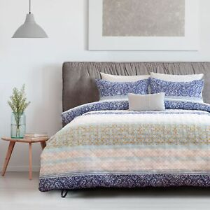3 Pce Elise Printed Embossed Quilt Cover Set By Ardor Single Double Queen Ki Ebay