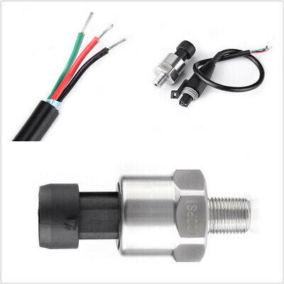 Gas Diesel Water 5V Electric Gauge Fuel Pressure Sensor 100 PSi Works for Oil