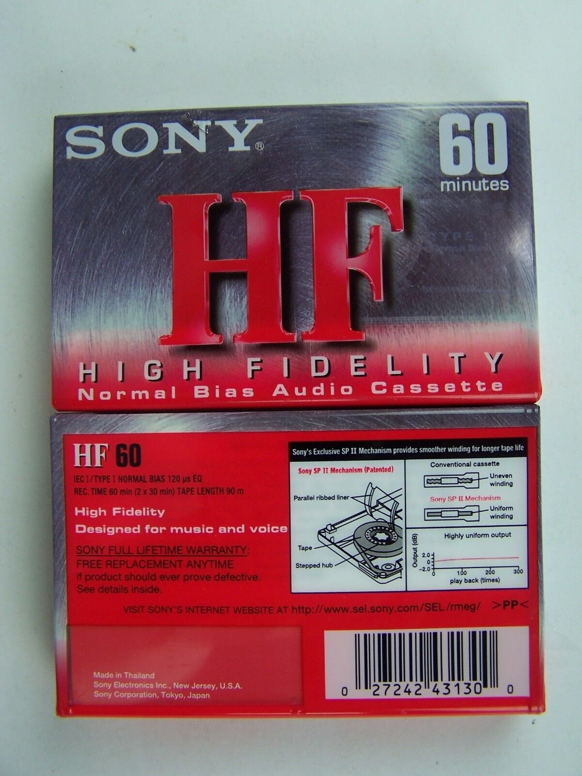Sony HF600 Audio Cassette Tape High Fidelity Normal Bia