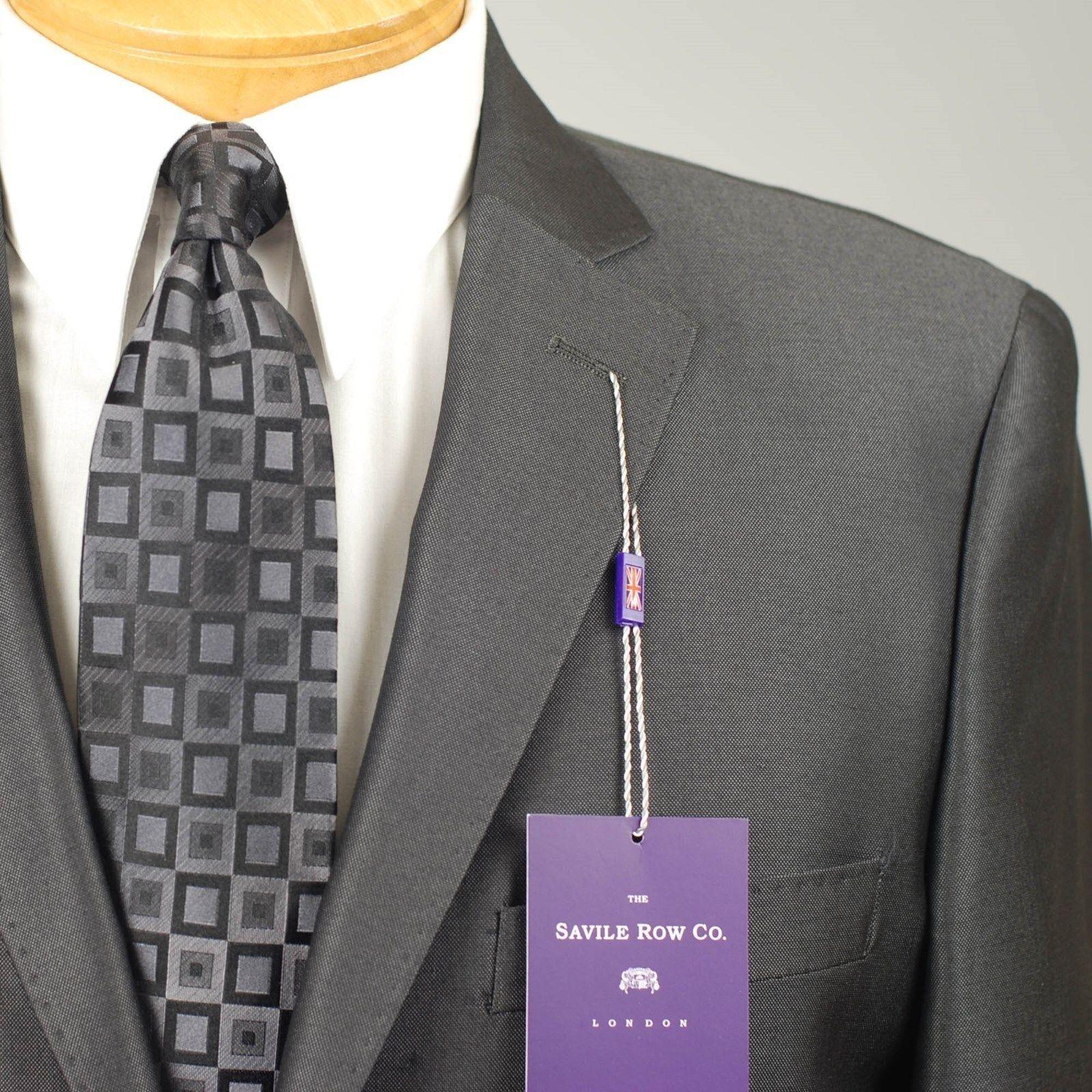 40S SAVILE ROW Charcoal Grau SUIT SEPARATE  40 Short  Herren Suits - SS25